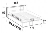 Beds Gaucho Double bed with FLOOR bed frame
