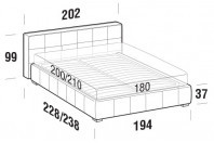 Beds Gaucho Maxi double bed with FLOOR bed frame