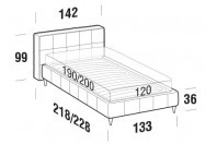 Beds Gaucho French bed with FLY bed frame