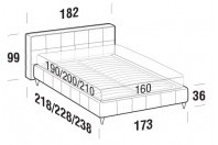 Beds Gaucho Double bed with FLY bed frame