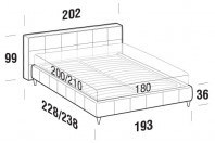 Beds Gaucho Maxi double bed with FLY bed frame