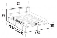 Beds Gaucho Double bed with STRONG bed frame