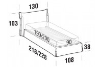 Beds Giselle Single bed with STRONG bed frame