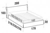 Beds Giselle Double bed with STRONG bed frame