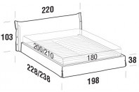 Beds Giselle Maxi double bed with STRONG bed frame