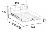 Beds Guscio Double bed with FLOOR bed frame
