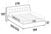 Beds Guscio Maxi double bed with FLOOR bed frame