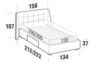 Beds Guscio French bed with BOX bed frame
