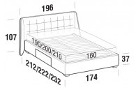 Beds Guscio Double bed with BOX bed frame