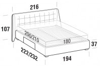 Beds Guscio Maxi double bed with BOX bed frame