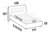 Beds Guscio French bed with ROUND bed frame