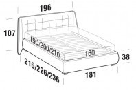 Beds Guscio Double bed with ROUND bed frame