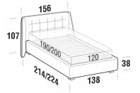 Beds Guscio French bed with STRONG bed frame