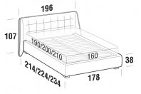 Beds Guscio Double bed with STRONG bed frame
