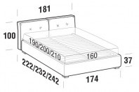 Beds Hot Double bed with FLOOR bed frame