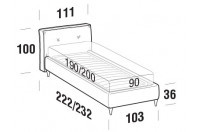 Beds Hot Single bed with FLY bed frame