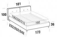Beds Hot Double bed with FLY bed frame