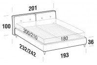 Beds Hot Maxi double bed with FLY bed frame