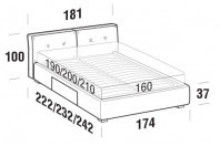 Beds Hot Double bed with BOX bed frame
