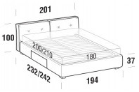 Beds Hot Maxi double bed with BOX bed frame
