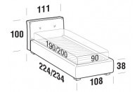 Beds Hot Single bed with STRONG bed frame