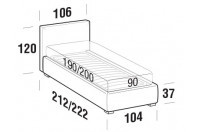 Beds Illy Single bed with FLOOR bed frame