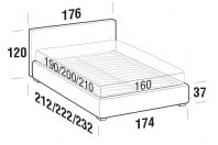 Beds Illy Double bed with FLOOR bed frame