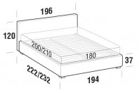 Beds Illy Maxi double bed with FLOOR bed frame