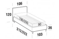 Beds Illy Single bed with FLY bed frame