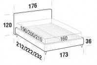 Beds Illy Double bed with FLY bed frame