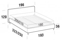 Beds Illy Maxi double bed with FLY bed frame