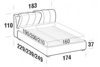Beds Inside Double bed with FLOOR bed frame