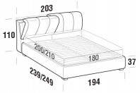 Beds Inside Maxi double bed with FLOOR bed frame
