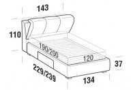 Beds Inside French bed with BOX bed frame