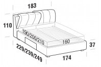 Beds Inside Double bed with BOX bed frame