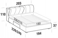 Beds Inside Maxi double bed with BOX bed frame