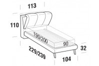 Beds Inside Single bed with UP bed frame