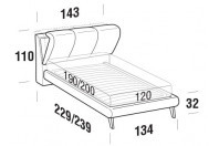Beds Inside French bed with UP bed frame