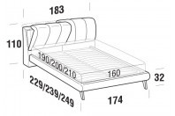 Beds Inside Double bed with UP bed frame