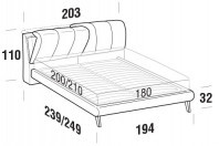 Beds Inside Maxi double bed with UP bed frame