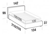 Beds Ipanema French bed with FLOOR bed frame