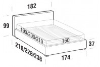Beds Ipanema Double bed with FLOOR bed frame