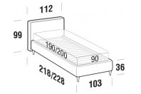 Beds Ipanema Single bed with FLY bed frame