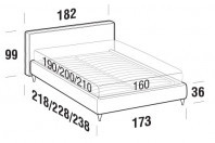 Beds Ipanema Double bed with FLY bed frame