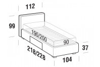 Beds Ipanema Single bed with BOX bed frame