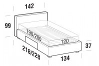 Beds Ipanema French bed with BOX bed frame