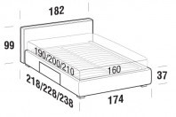 Beds Ipanema Double bed with BOX bed frame