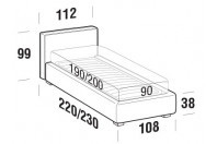 Beds Ipanema Single bed with STRONG bed frame