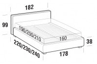 Beds Ipanema Double bed with STRONG bed frame
