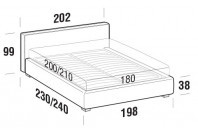 Beds Ipanema Maxi double bed with STRONG bed frame